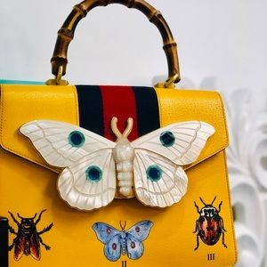 GUCCI Falena Moth Top Handle Handbag